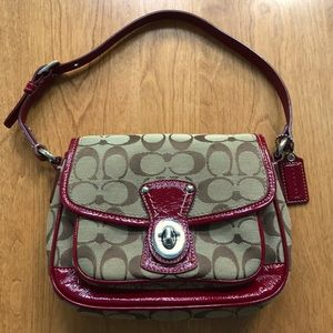 Signature and Leather Coach Bag
